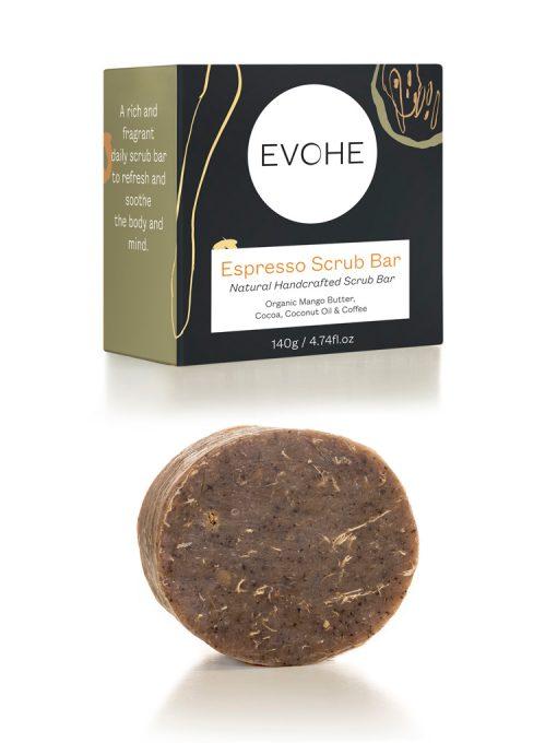 EVOHE Espresso Scrub bar exfoliant
