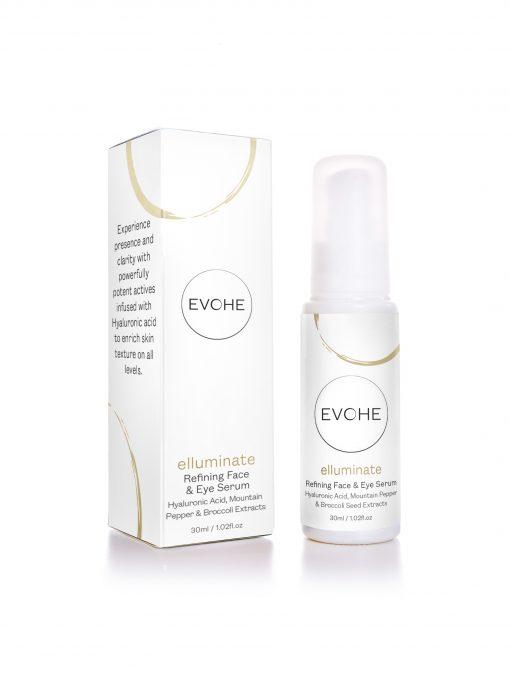 EVOHE elluminate refining face and eye serum 30ml anti ageing