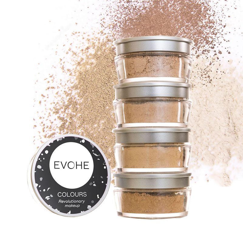 EVOHE Colours Mineral Make Up Containers